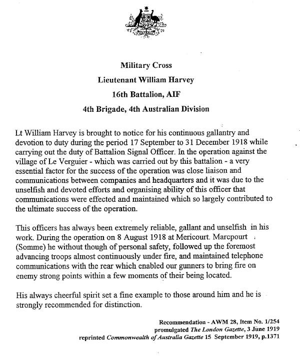 Military Cross Document